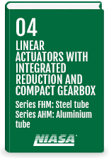 Linear actuators with integrated reduction and compact gearbox