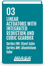 Linear actuators wtih integrated reduction and cubic gearbox